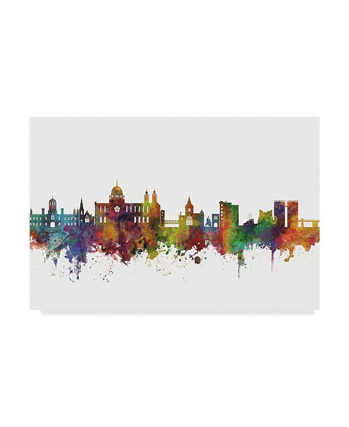 "Trademark Global Michael Tompsett Galway Ireland Skyline II Canvas Art - 37"" x 49"""