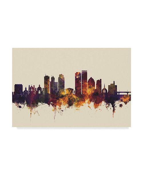 """Trademark Global Michael Tompsett Dayton Ohio Skyline III Canvas Art - 37"""" x 49"""""""