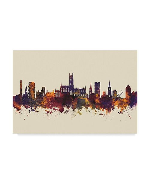 "Trademark Global Michael Tompsett Gloucester England Skyline III Canvas Art - 20"" x 25"""