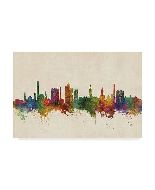"Trademark Global Michael Tompsett Bradford England Skyline Canvas Art - 20"" x 25"""