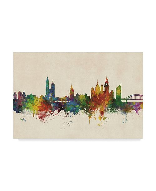 "Trademark Global Michael Tompsett Krakow Poland Skyline Canvas Art - 15"" x 20"""