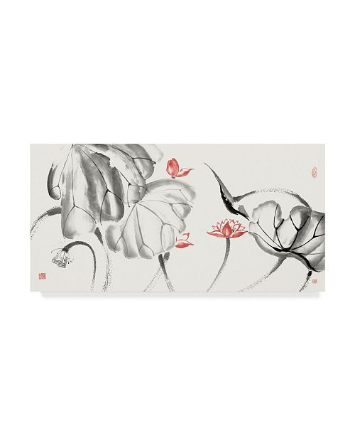 "Trademark Global Nan Rae Lotus Study with Coral III Canvas Art - 20"" x 25"""