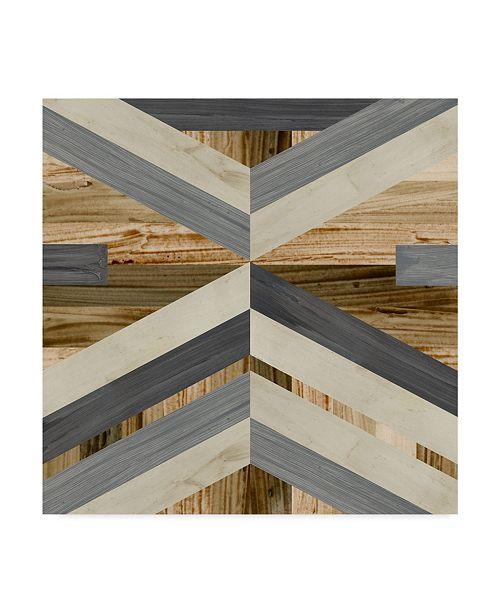 "Trademark Global June Erica Vess Geometric Inlay I Canvas Art - 15"" x 20"""