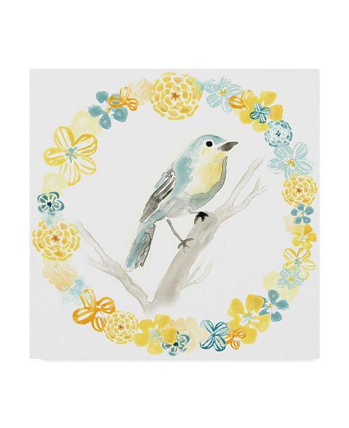 "Trademark Global June Erica Vess Solo Songbird IV Canvas Art - 20"" x 25"""