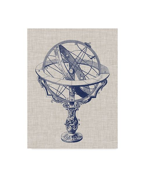 "Trademark Global Vision Studio Armillary Sphere on Linen II Canvas Art - 20"" x 25"""