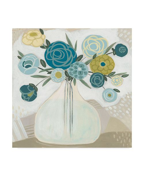 "Trademark Global June Erica Vess Blue Bohemian Bouquet II Canvas Art - 15"" x 20"""