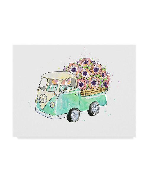 "Trademark Global Catherine Mcguire Flower Truck V Canvas Art - 20"" x 25"""
