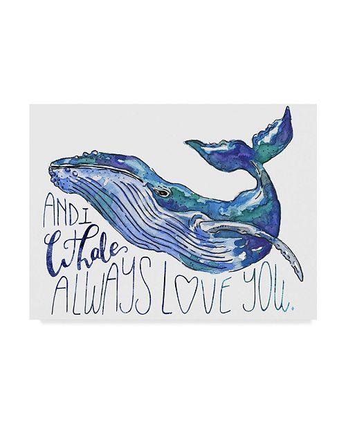 "Trademark Global Catherine Mcguire Whale Love I Canvas Art - 37"" x 49"""