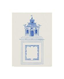 "Vision Studio Pagoda Design I Canvas Art - 37"" x 49"""