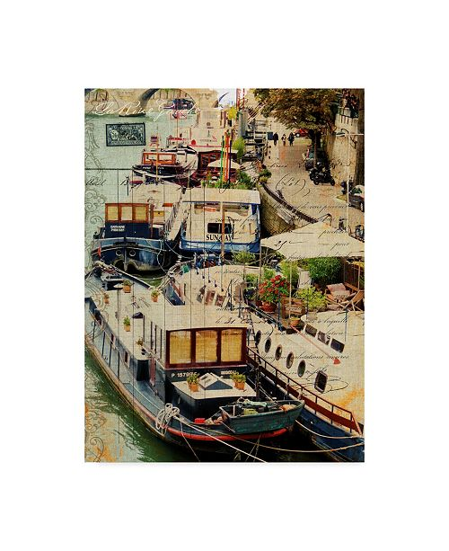 "Trademark Global Sandy Lloyd Postcards of Paris X Canvas Art - 20"" x 25"""