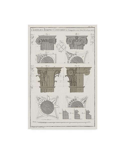 "Trademark Global Vision Studio Survey of Architectural Design IV Canvas Art - 20"" x 25"""