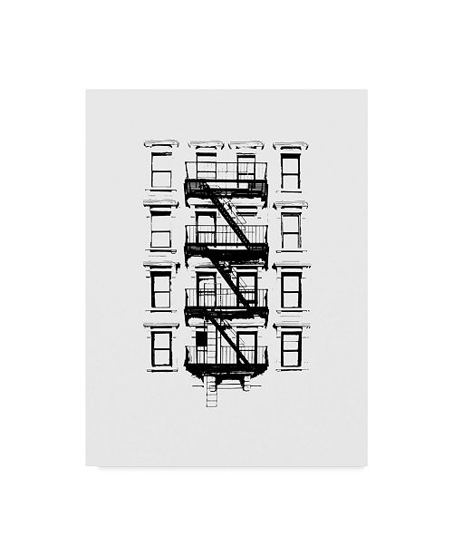 "Trademark Global Jeff Pica NYC in Pure B&W XII Canvas Art - 20"" x 25"""