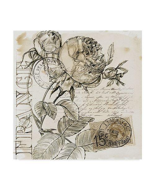 "Trademark Global Jennifer Paxton Parker Rose Romance IV Canvas Art - 15"" x 20"""