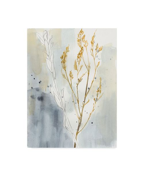 """Trademark Global Jennifer Goldberger Yellow Wild Grass I Canvas Art - 37"""" x 49"""""""