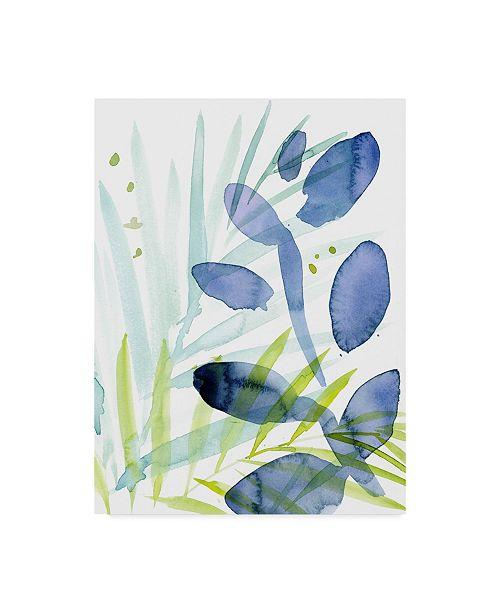 """Trademark Global Jennifer Paxton Parker Queen Palms I Canvas Art - 37"""" x 49"""""""