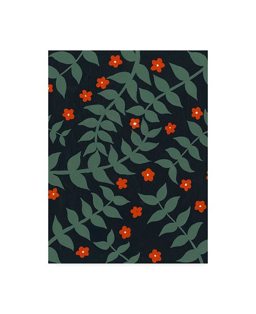 "Trademark Global Regina Moore Blooming Garden Pattern I Canvas Art - 20"" x 25"""