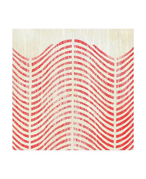 """Trademark Global June Erica Vess Weathered Patterns in Red X Canvas Art - 15"""" x 20"""""""
