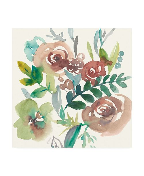 "Trademark Global Chariklia Zarris Rosealeah I Canvas Art - 15"" x 20"""