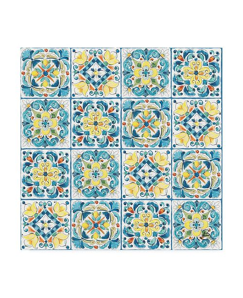 "Trademark Global Daphne Brissonnet Mediterranean Breeze Step 03A Canvas Art - 27"" x 33"""