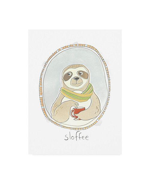 "Trademark Global June Erica Vess Caffeinated Cutie III Canvas Art - 37"" x 49"""
