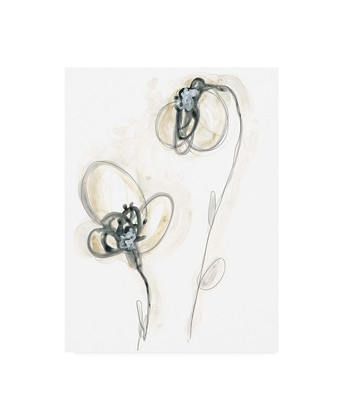 "Trademark Global June Erica Vess Monochrome Floral Study VIII Canvas Art - 20"" x 25"""