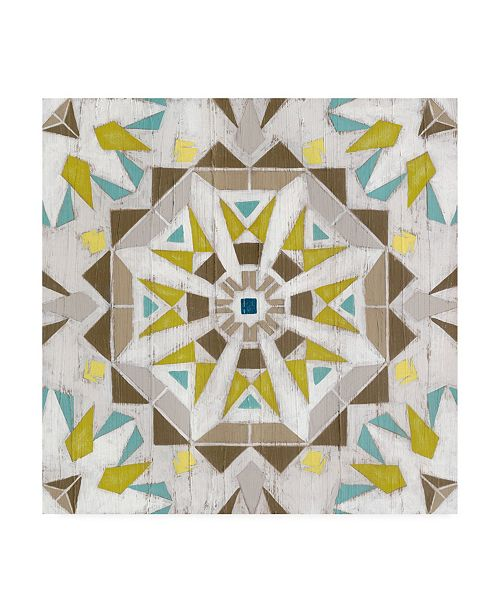 "Trademark Global June Erica Vess Driftwood Mandala I Canvas Art - 15"" x 20"""