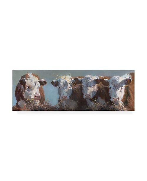 "Trademark Global Carolyne Hawley Little Bull and the Babes Canvas Art - 37"" x 49"""