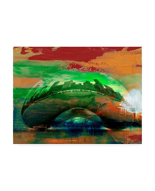 "Trademark Global Sisa Jasper The Bean, Chicago Canvas Art - 20"" x 25"""