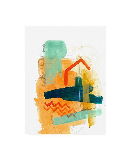 """Trademark Global June Erica Vess Fringe Aspect V Canvas Art - 37"""" x 49"""""""