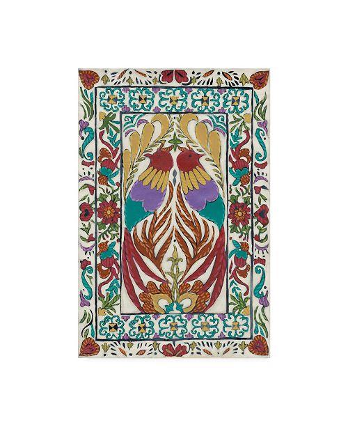 "Trademark Global Chariklia Zarris Batik Embroidery IV Canvas Art - 15"" x 20"""