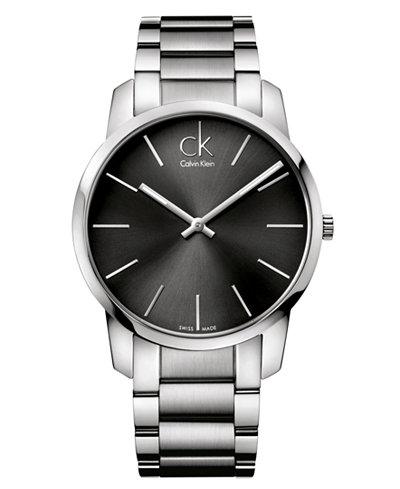 Calvin Klein Watch, Men's Swiss City Stainless Steel Bracelet 43mm K2G21161