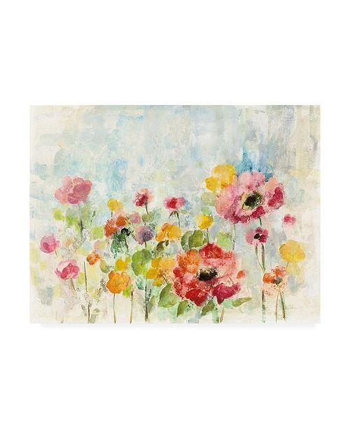 "Trademark Global Silvia Vassileva Summer Rain Floral Canvas Art - 27"" x 33.5"""