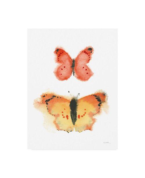 """Trademark Global Shirley Novak Watercolor Butterflies IV Canvas Art - 36.5"""" x 48"""""""