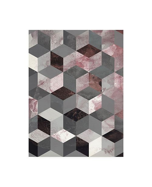 """Trademark Global Design Fabrikken Cubes Rose Fabrikken Canvas Art - 19.5"""" x 26"""""""