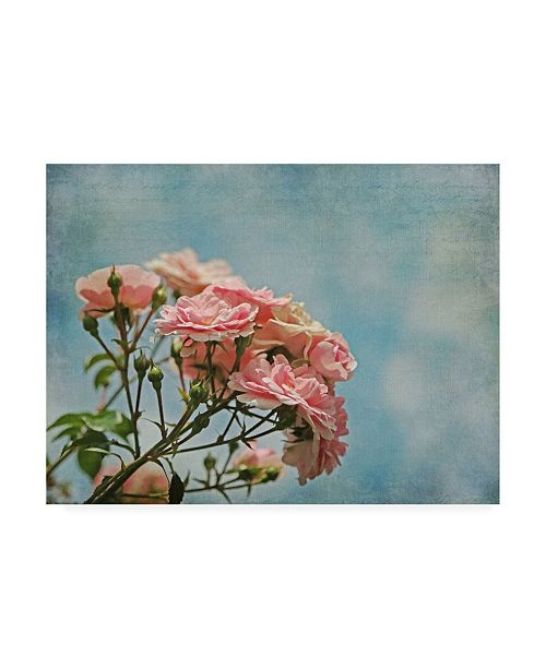 """Trademark Global Brooke T. Ryan Antique Roses with French Script Canvas Art - 27"""" x 33.5"""""""