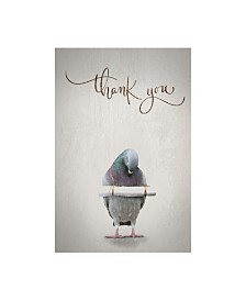 "TypeLike Thank you Blue Bird Canvas Art - 15.5"" x 21"""
