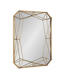 """CLOSEOUT! Keyleigh Rectangle Metal Accent Wall Mirror - 22"""" x 28"""""""