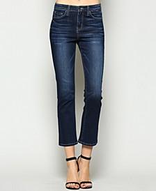 High Rise Crop Bootcut Jeans