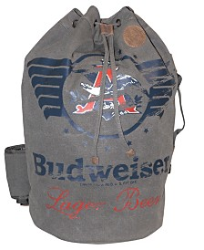 Budweiser Eagle Wings Drawstring Bucket Bag