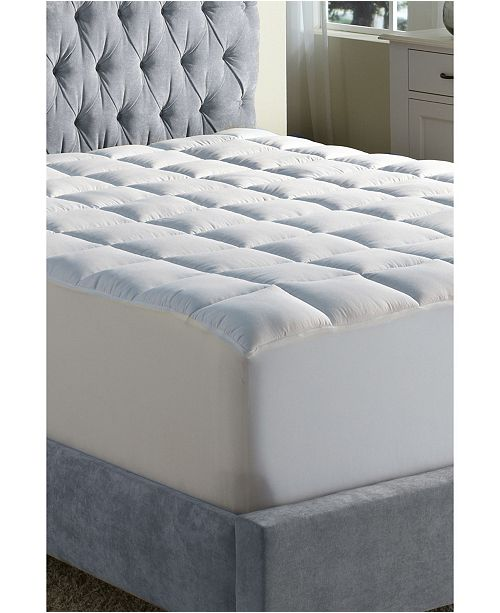 Rio Home Fashions Cooling Down Alternative Mattress Pad with Coolmax Cotton Blended Cover Collection