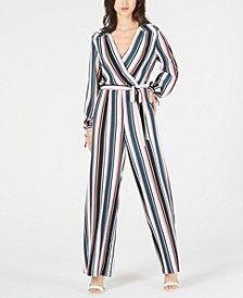 Petite Striped Wide-Leg Jumpsuit