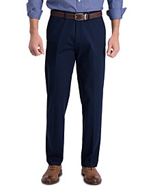 Men's Iron Free Premium Khaki Straight Fit Flat Front Pant