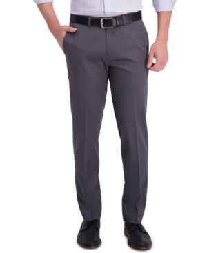 Men's Iron Free Premium Khaki Straight-Fit Flat-Front Pant