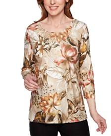 Alfred Dunner Street Smart Beaded Lace Top
