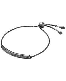 Michael Kors Sterling Silver Pavé Bar Slider Bracelet