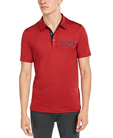 Men's Performance Stretch Sport Logo Polo Shirt, Created for Macy's