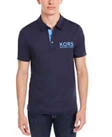 Michael Kors Men's Performance Stretch Golf Logo Polo Shirt, Created for Macy's