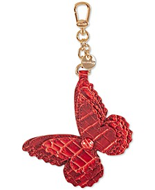 Butterfly Leather Tassel Keychain
