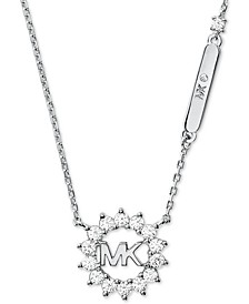 "Crystal Logo 18"" Pendant Necklace"