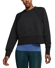Nike Dri-FIT Fleece Cropped Training Top